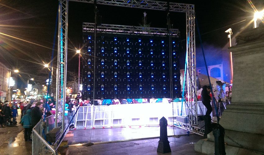 Outdoor Led Screen Rental Ireland Christmas Lights Event Concert