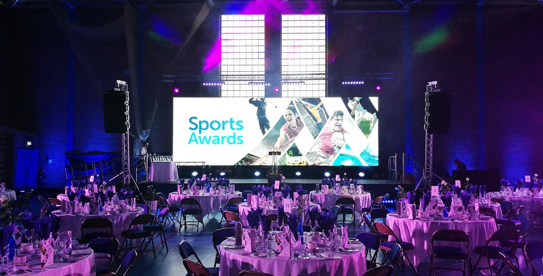 MEA-Sports-Big LED Awards Screen hire