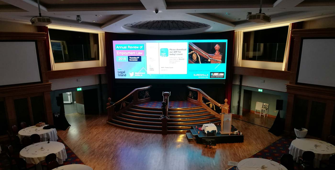 LED Screen Hire Titanic Suite